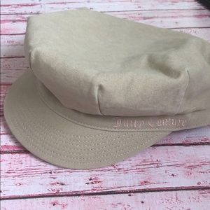 Juicy Couture Tan Newsboy Hat